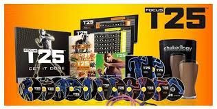 Shuan T's Focus T 25 workouts.  25 minute workouts to do in your home.
