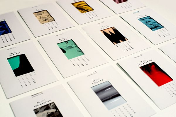 Fedrigoni Calendar 2015 | YCN Competition on Behance