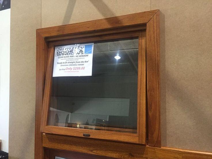 AWNING WINDOW TIMBER, SOLID CEDAR WINDOW,730X680H, 6MM GLASS, AW01