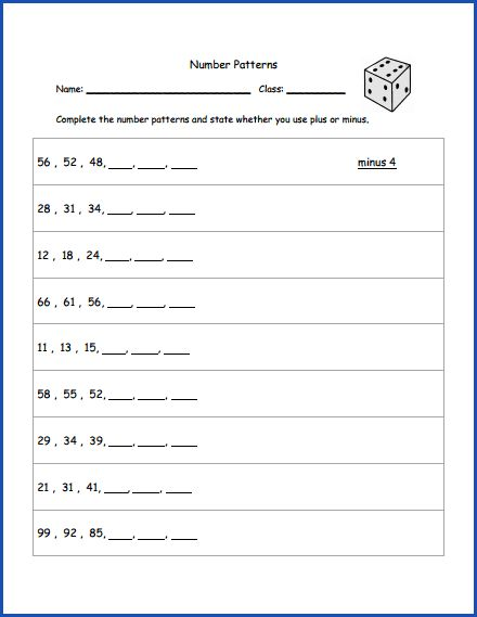 math number patterns worksheet 2nd grade math pattern worksheet number patterns worksheets. Black Bedroom Furniture Sets. Home Design Ideas