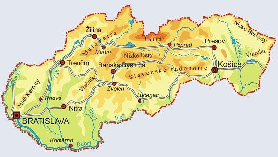 Mapa - Slovia.eu