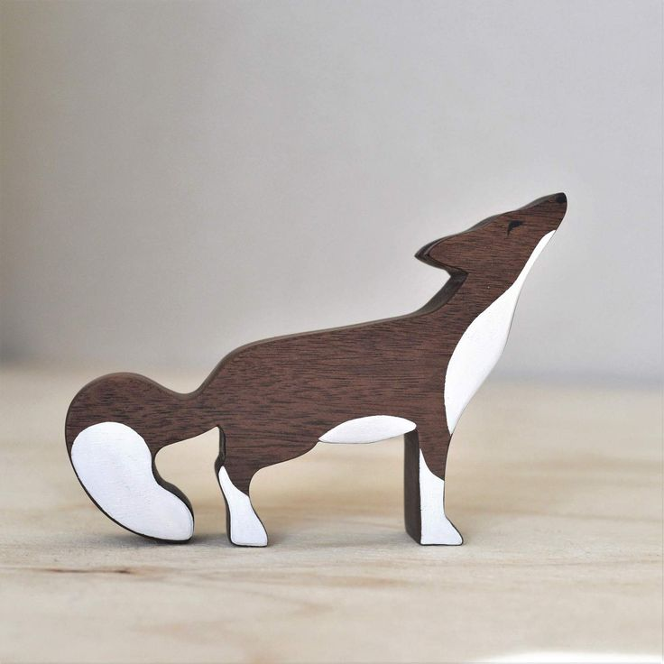 Inspired by 'Little Creatures- The Tranquil Fox' illustration, this intricately detailed wooden toy was handmade and handpainted in NZ. These toys are crafted in small quantities and each toy is unique.  Dimensions: 15cm from edge of nose to edge of tail. 2.5cm thick Materials : walnut, toxic fre...