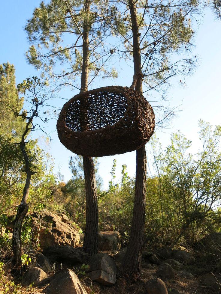Man sized nest by Porky Hefer. Environmental sculpture