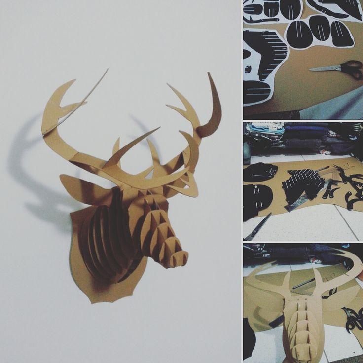 Encomenda em andamento. Falta o acabamento.  #alce #moose #trophy #animal #stack #design #product #diy #handmade #veado #deer #fabricad