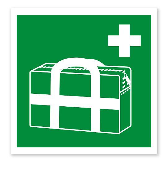 Rettungszeichen Medizinischer Notfallkoffer nach DIN EN ISO 7010 #notfallkoffer