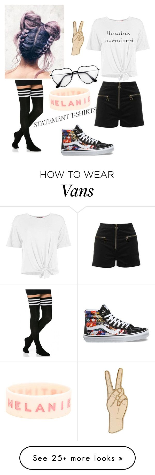 """Untitled #219"" by ou7f1t on Polyvore featuring Topshop, Boohoo, Vans and Lucky Brand"