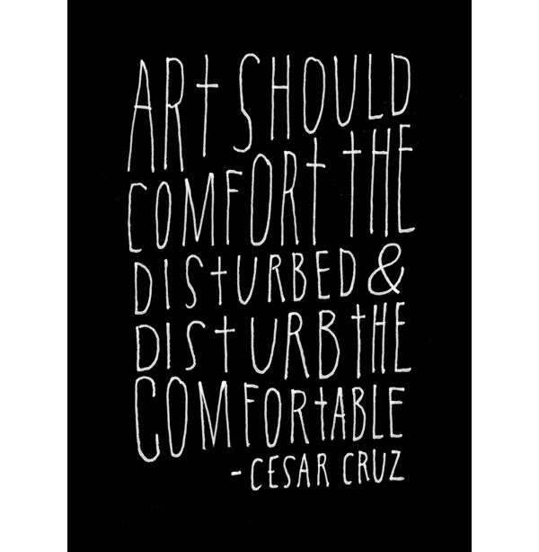 365 Days of Hand Lettering by Lisa CongdonArt Quotes, Inspiration, Disturbing, Cesar Cruz, Artquotes, Things, Cesarcruz, Living, Comforters