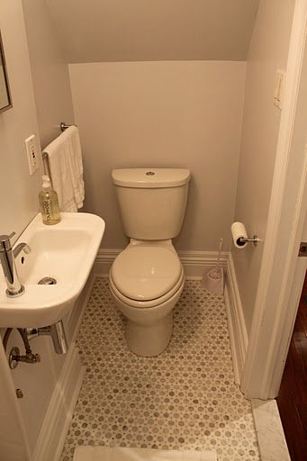 25 best ideas about small powder rooms on pinterest for Basement bathroom flooring ideas