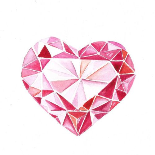 Happy Monday beauties! And happy 1st day of the month of LOVE. I hope this little gem I painted brightens your day. #love #redbubble #willowswatercolors #watercolor #heart #gem #valentine #spreadlove #heartgem #gemstone #ruby #valentine #valentinesgift #willowheath