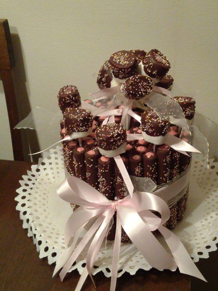 Torta de cuchuflis, chocolate