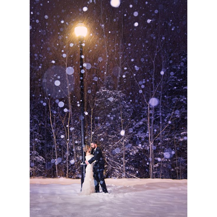 Beautiful February evening ceremony followed by a winter storm warning during formals!