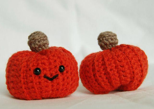 Crochet Amigurumi Pumpkin for Halloween or Autumnal Decor
