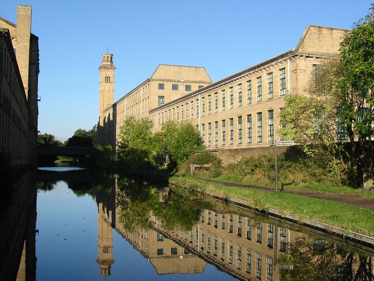 Saltaire, Yorkshire. A beautiful Victorian model village accessible by train from Leeds