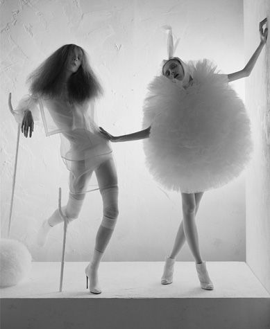Photo by Tim Walker. I think I will wear the one on the right to work next week.