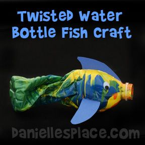 Fish Craft - Twisted Water Bottle Fish Craft for Kids from www.daniellesplace.com