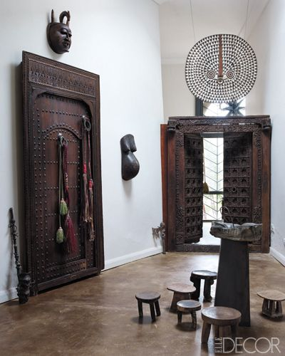 African and Asian inspired design at Peacock Pavilions in Marrakech. In Elle Decor.