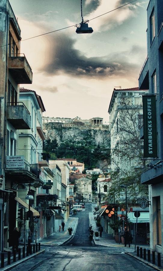 Athens, Greece Aiolou street! This is my neighbourhood!!! ''Η ονομασία της οδού Αιόλου, προήλθε από το «Ωρολόγιο του Κυρρήστου» (Αέρηδες), το οποίο βρίσκεται στο σημείο όπου ξεκινά η παλιά και εμπορική αυτή οδός. Αρχικά στην Οθωμανική περίοδο, ο δρόμος ονομαζόταν Αιολική οδός.''