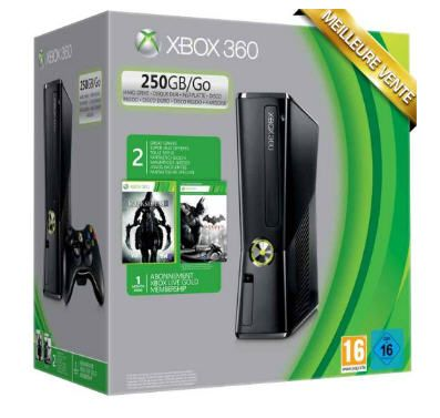 Console XBox 360 250Go + Batman Arkham City + Darksiders 2 prix promo Boulanger 199,00 € TTC