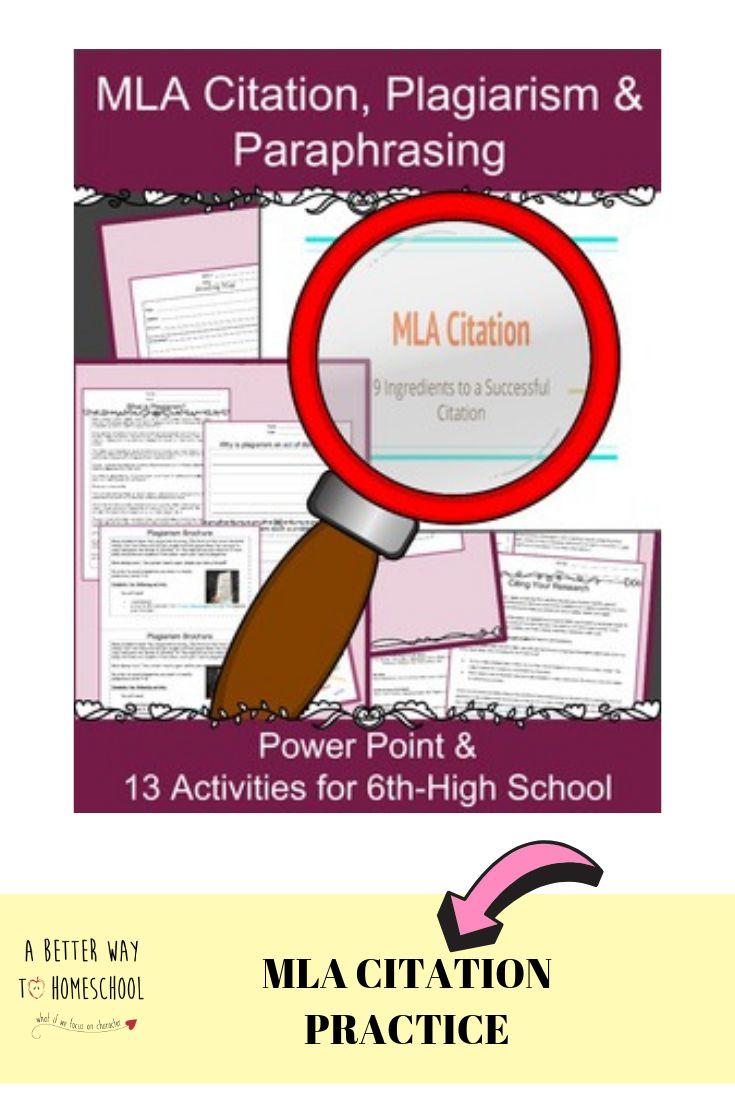 Mla citation practice worksheets research writing skills