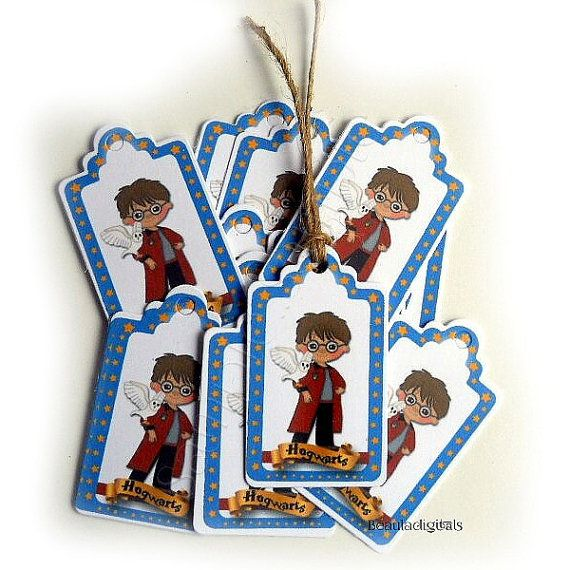 50 Harry Potter Hogwarts Small Swing Tags  Paper by Beauladigitals