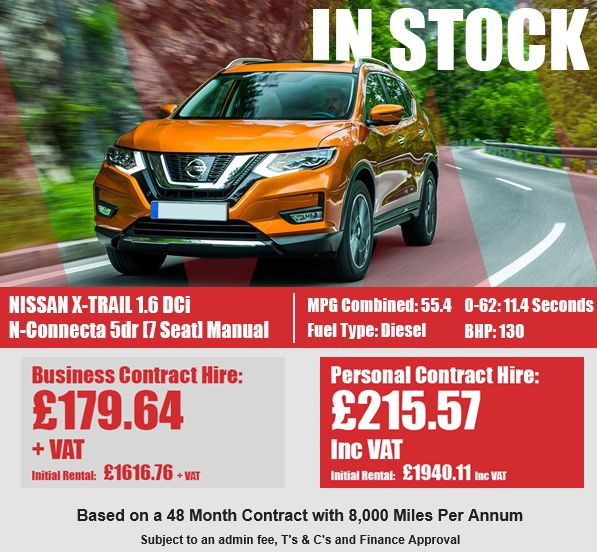 NISSAN X-TRAIL DIESEL STATION WAGON  1.6 dCi N-Connecta 5dr [7 Seat]