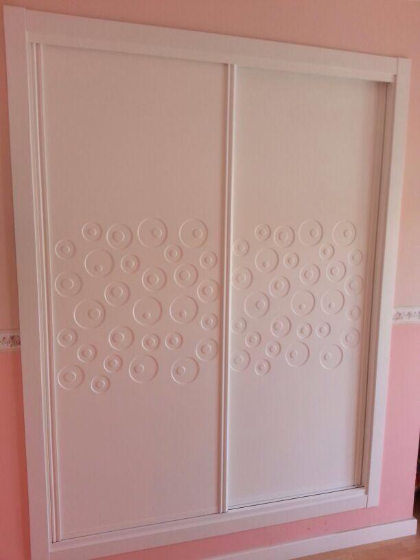 Original frente de armario corredera lacado en blanco con - Armario blanco puertas correderas ...