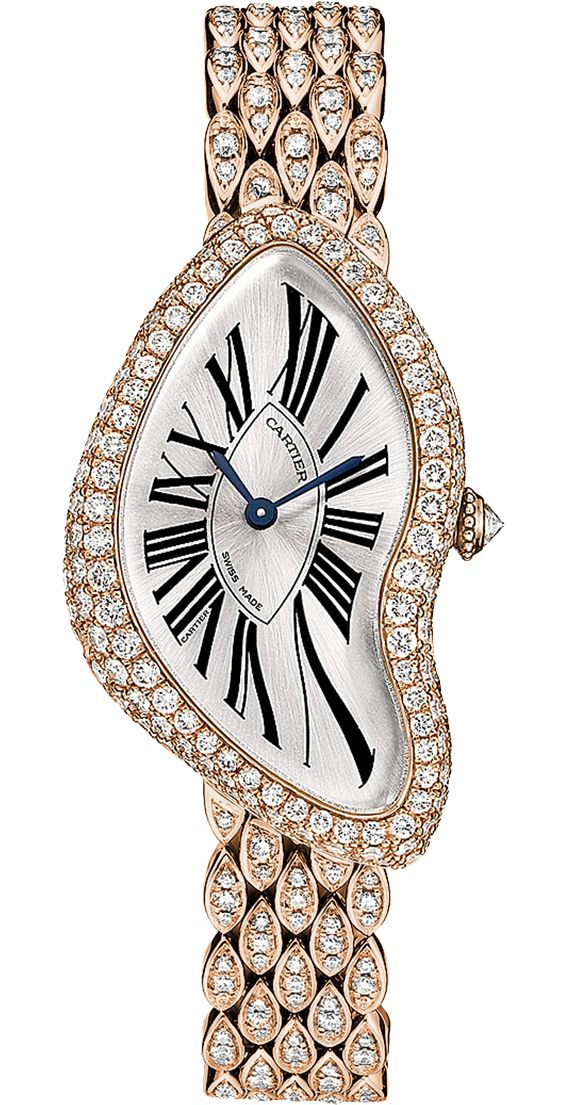 Cartier diamond watch, time for Champagne