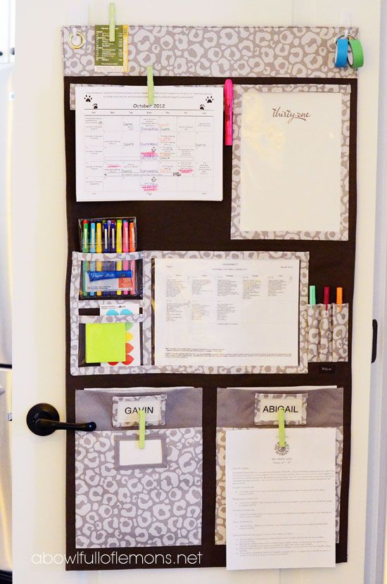 Tableau organisation maison