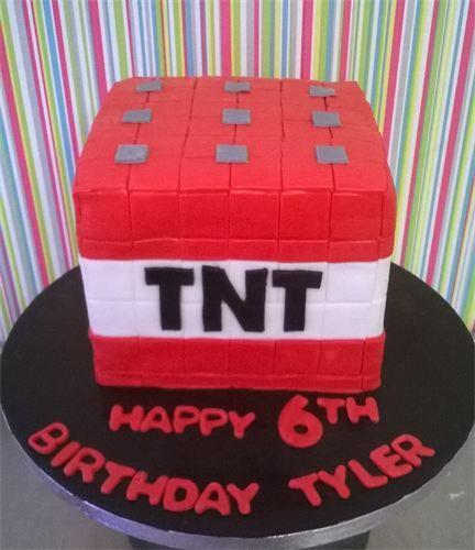 : Minecraft TNT Cake