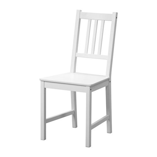 IKEA STEFAN Chair White Solid wood is a hardwearing natural material.