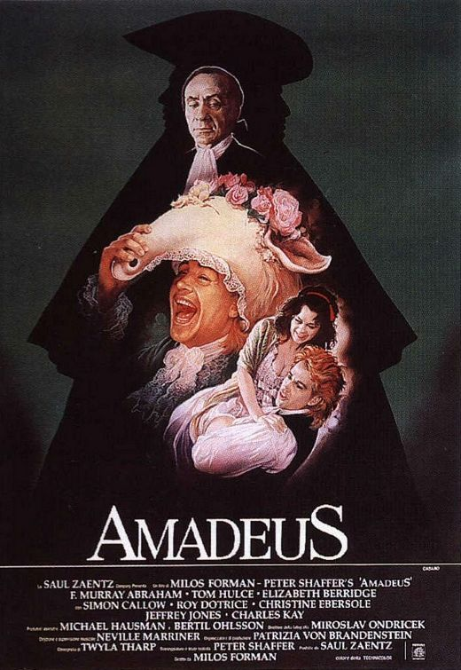 The incredible story of Wolfgang Amadeus Mozart, told in flashback by his peer and secret rival Antonio Salieri - now confined to an insane asylum. ~ Amadeus ~ 1984