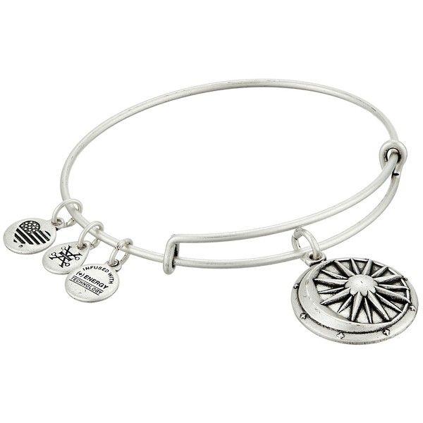 Alex and Ani Cosmic Balance Charm Bangle Bracelet ($28) ❤ liked on Polyvore featuring jewelry, bracelets, alex and ani, adjustable bangle, bangle charm bracelet, charm jewelry and bangle charms
