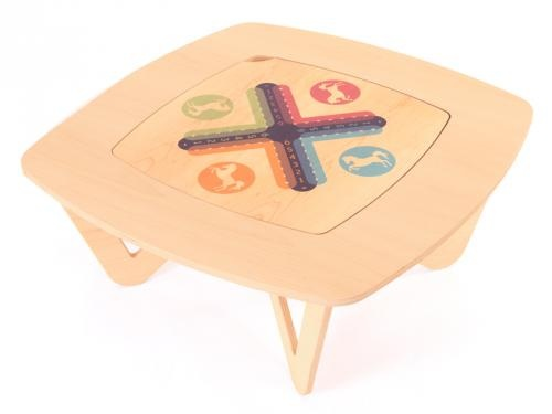AVO' Jeux Game Table by OVA Design for L'EDITO. Choose your size and game online!  http://www.ledito.com/table-basse-sur-mesure-avo-jeux.html