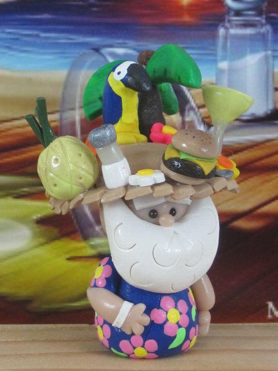 Parrothead Jimmy Buffett Fan Gnome for Fairy by WeeBrigadoon