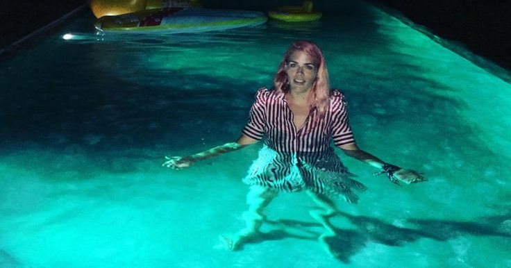 Busy Philipps Jumps into Infinity Pool to Rescue Daughter Cricket: She Was 'Panicking'