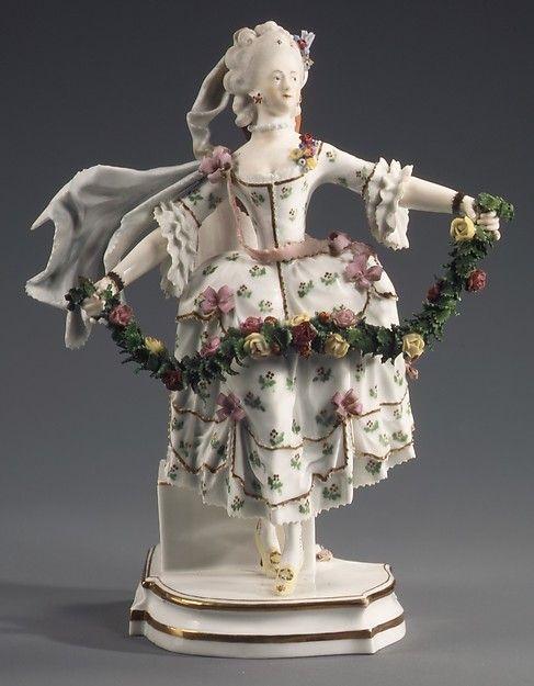 Dancer, ca. 1785.  Fulda Pottery and Porcelain Manufactory.  Hard paste porcelain.  Metropolitan Museum of Art.