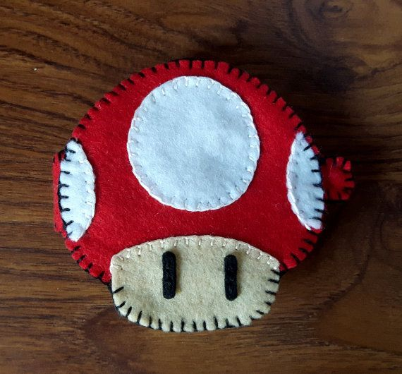 Red Super Mario Mushroom Needle Book by OfflinePixels on Etsy