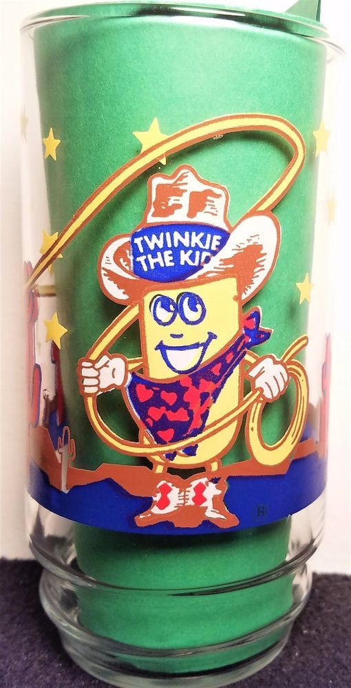 Twinkie the Kid Cowboy Lasso's A Twinkie Package - Vintage - Hostess Glass #Hostess