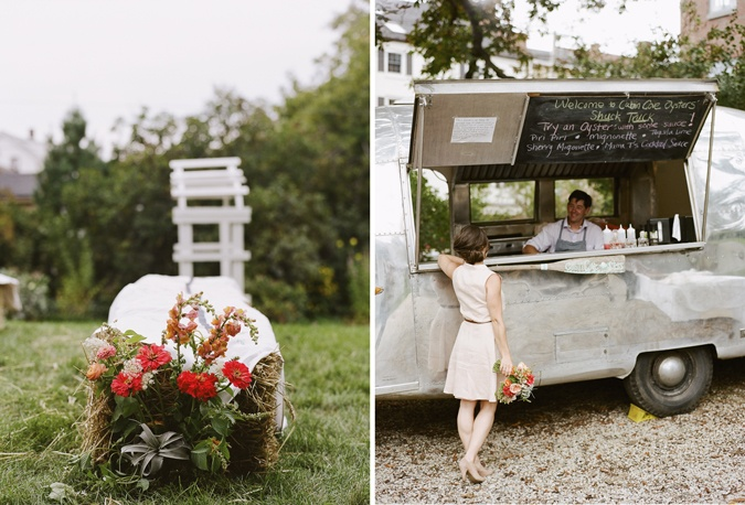 Love this idea for seating and the food truck idea!
