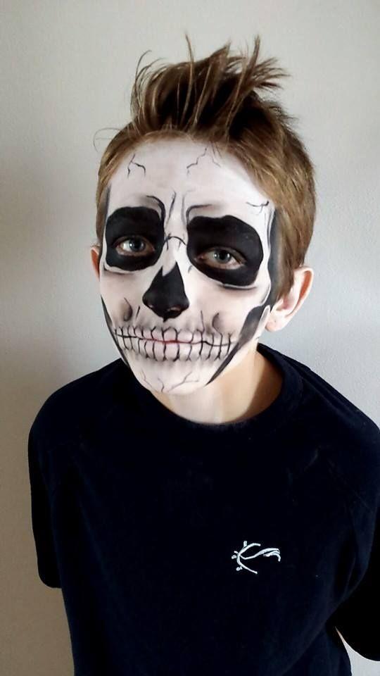 Skeleton children halloween makeup by AMLCreations