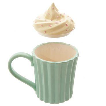 Ceramiczny kubek z pokrywką  Cupcake Babeczka