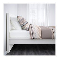 IKEA - MALM, Bed frame, high, Luröy, , Adjustable bed sides allow you to use mattresses of different thicknesses.16 slats of layer-glued birch adjust to your body weight and increase the suppleness of the mattress.