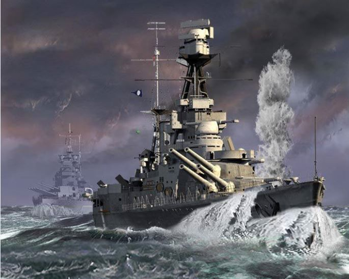 HMS HOOD AND PRINCE OF WALES