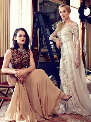 The ladies of Downton Abbey for Harpers Bazaar UK August 2014_4.jpg