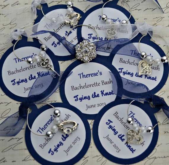 items similar to wine charm favors tying the knot bachelorette wedding anniversary bridal shower customized on etsy