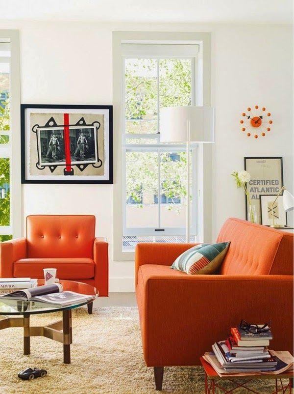 Die besten 25 oranges sofa ideen auf pinterest orange for Ideas para decorar tu casa pequena