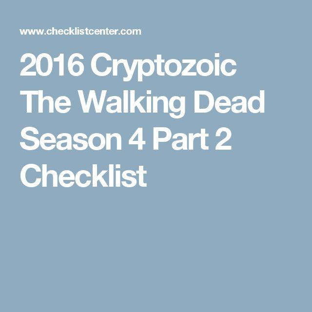 2016 Cryptozoic The Walking Dead Season 4 Part 2 Checklist