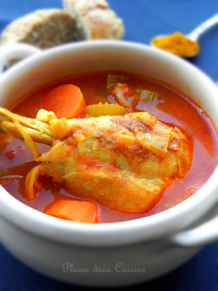 Ma soupe de poulet au curry
