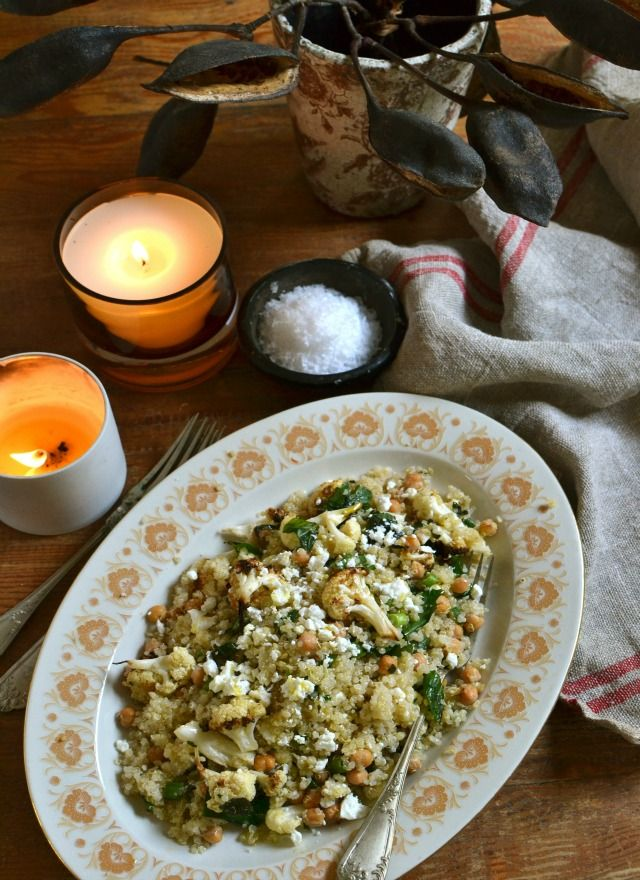 My Roasted Cauliflower, Quinoa and Chickpea Salad • has been featured in the Top Inspired, Top 10 Australian Recipes.