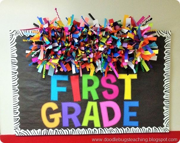 Back to School Bulletin Board- Rainbow Paper Cloud and Colorful Letters